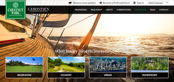 Chestnut Park Website